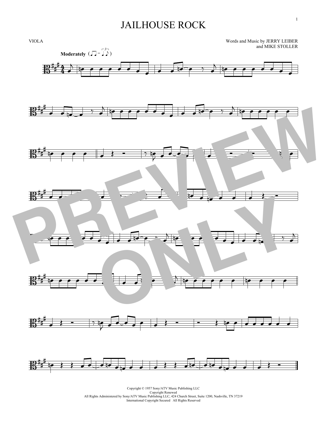 Jailhouse Rock Sheet Music