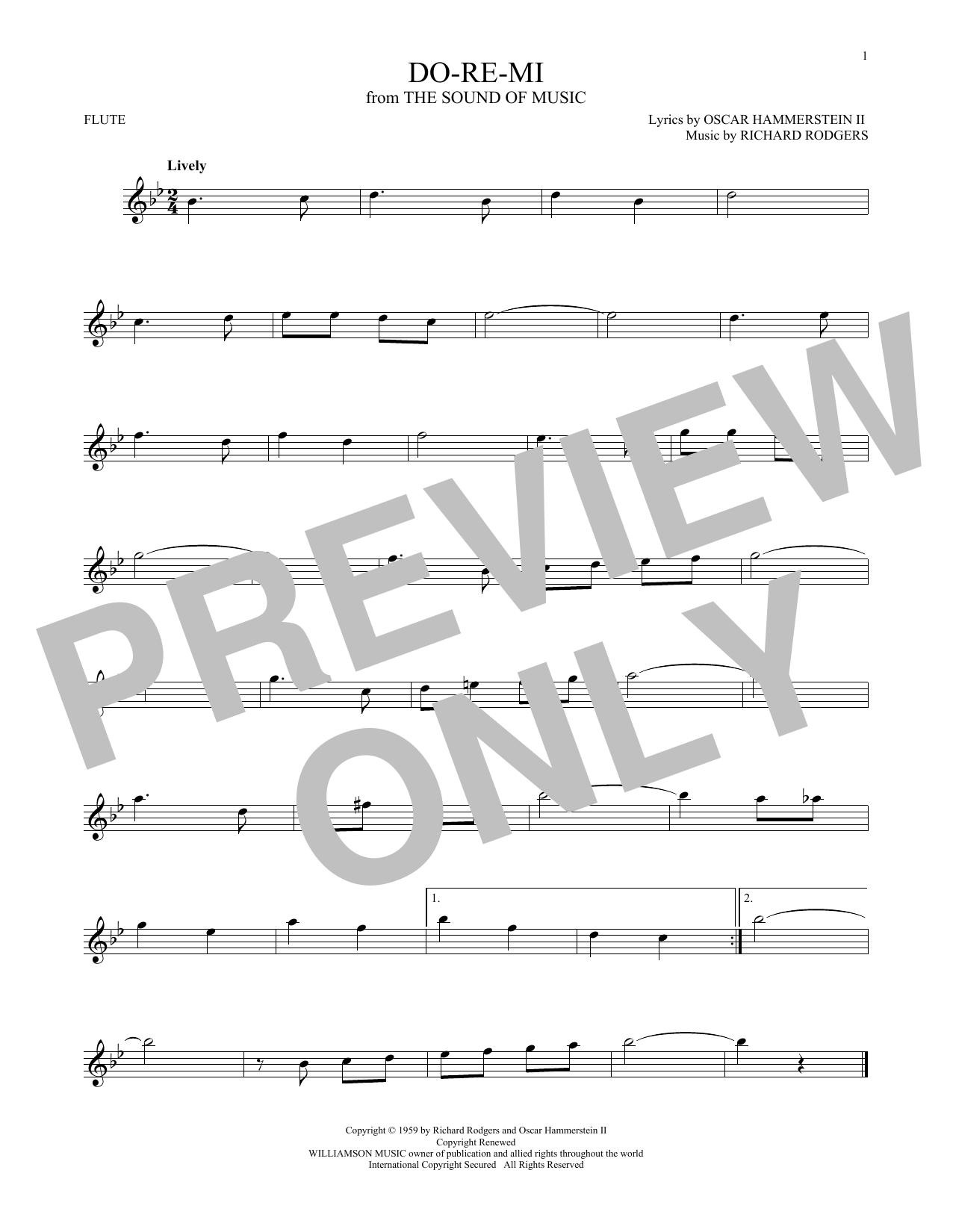 Partition flûte Do-Re-Mi de Rodgers & Hammerstein - Autre