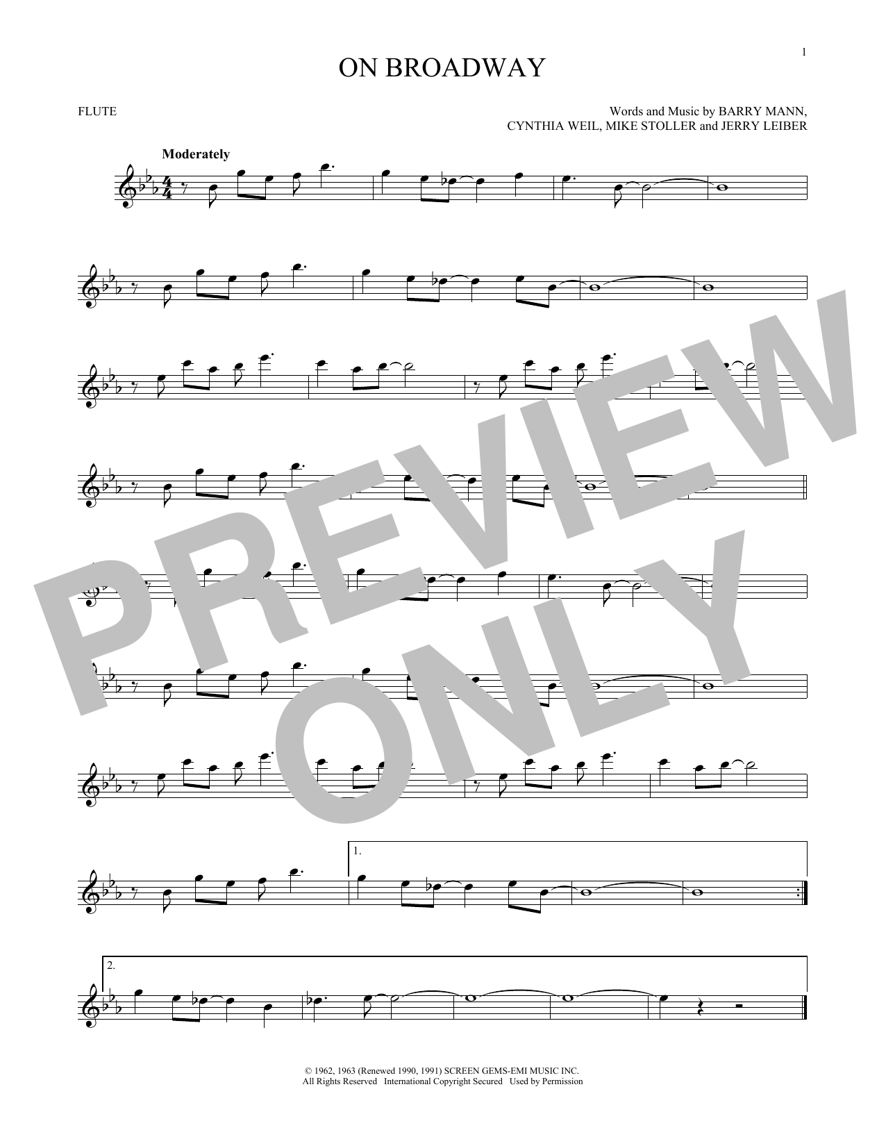 On Broadway Sheet Music