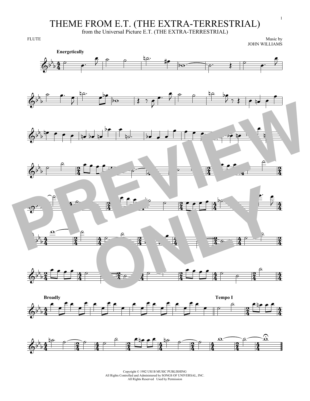 Theme From E.T. (The Extra-Terrestrial) (Flute Solo)