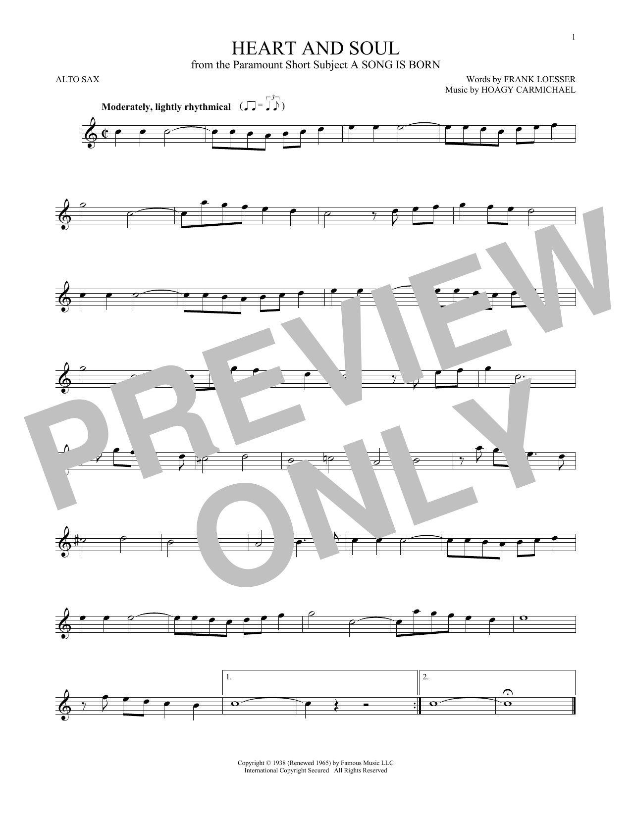 Heart And Soul Sheet Music