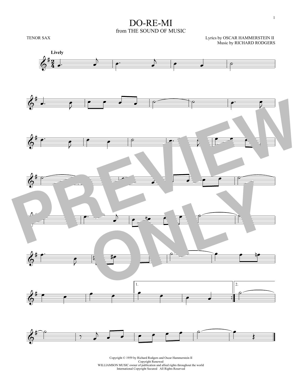 Partition saxophone Do-Re-Mi de Rodgers & Hammerstein - Autre
