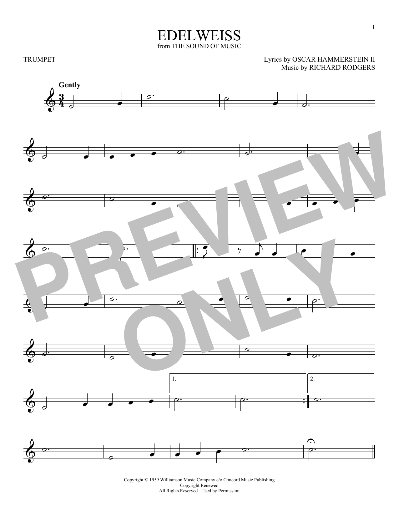 Edelweiss Sheet Music