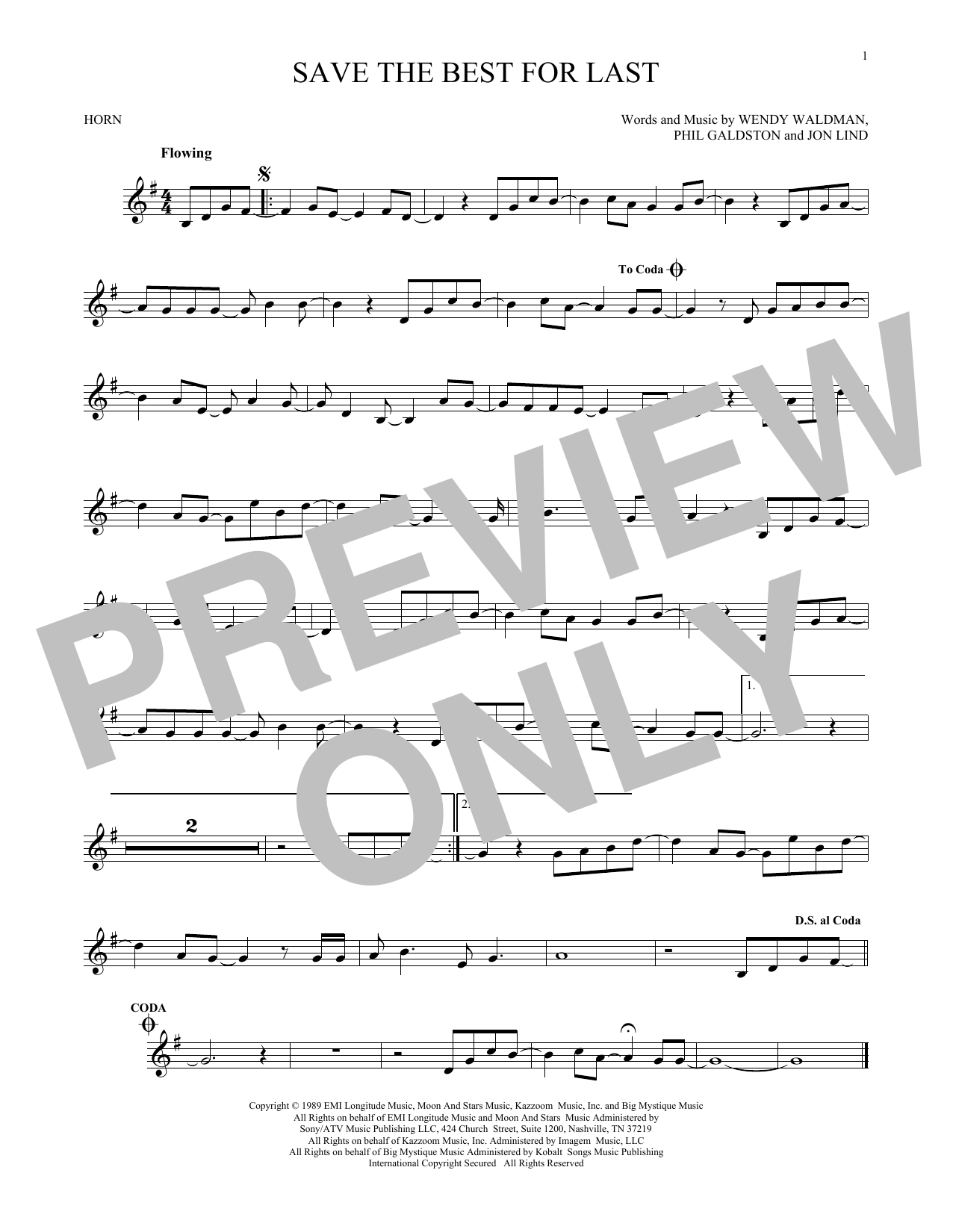 Save The Best For Last (French Horn Solo)