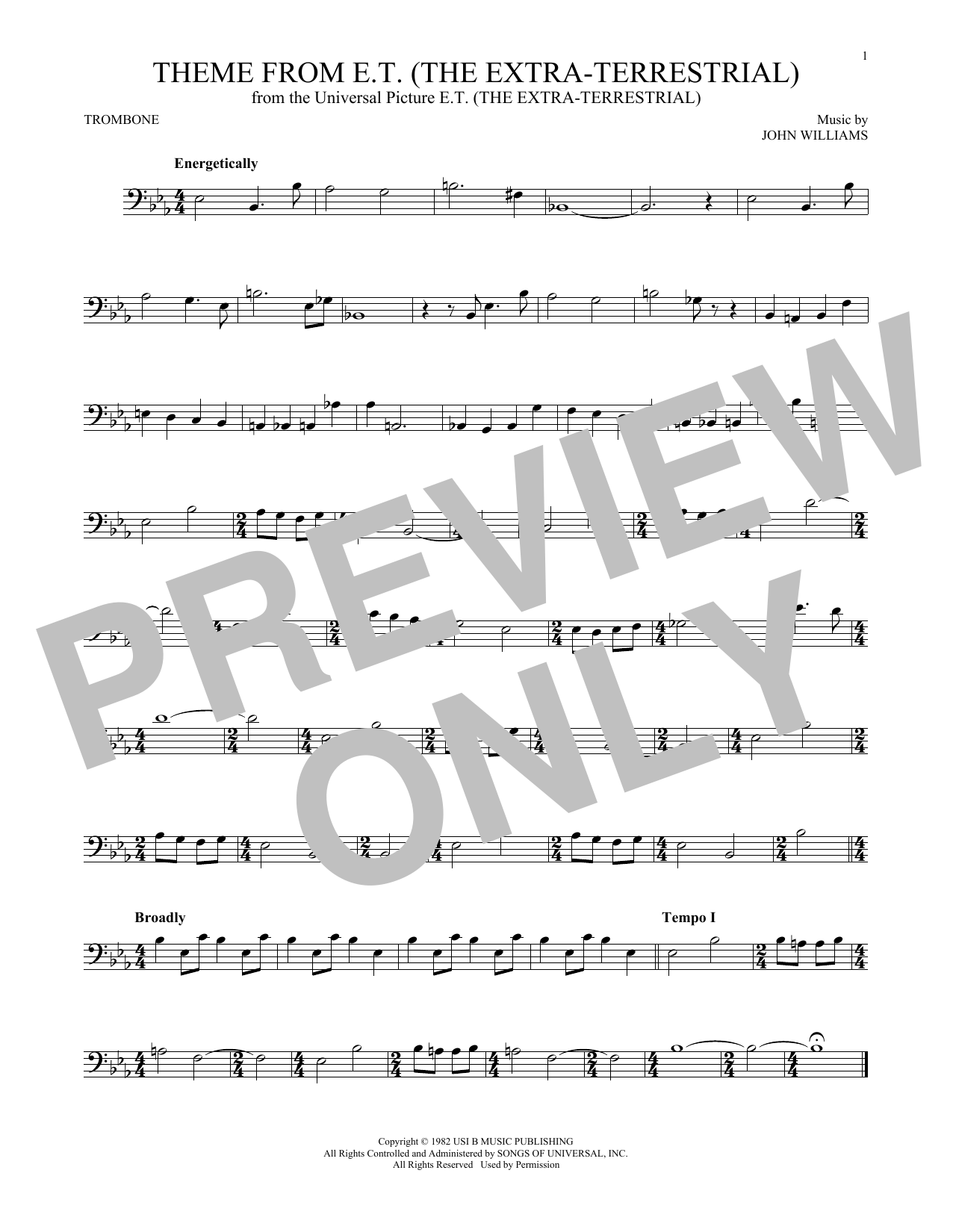 page one of Theme From E.T. (The Extra-Terrestrial)ASALTTEXT