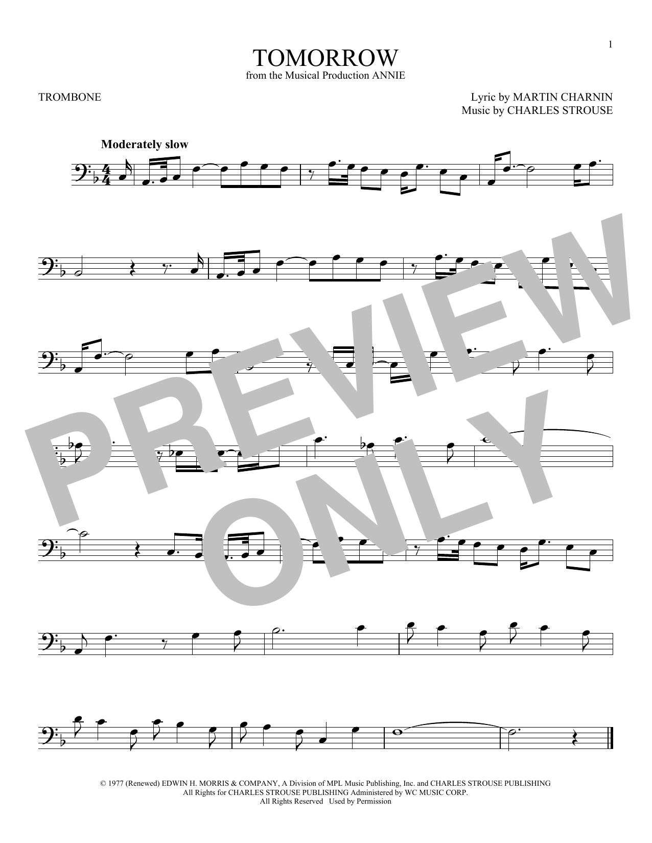Tomorrow Sheet Music