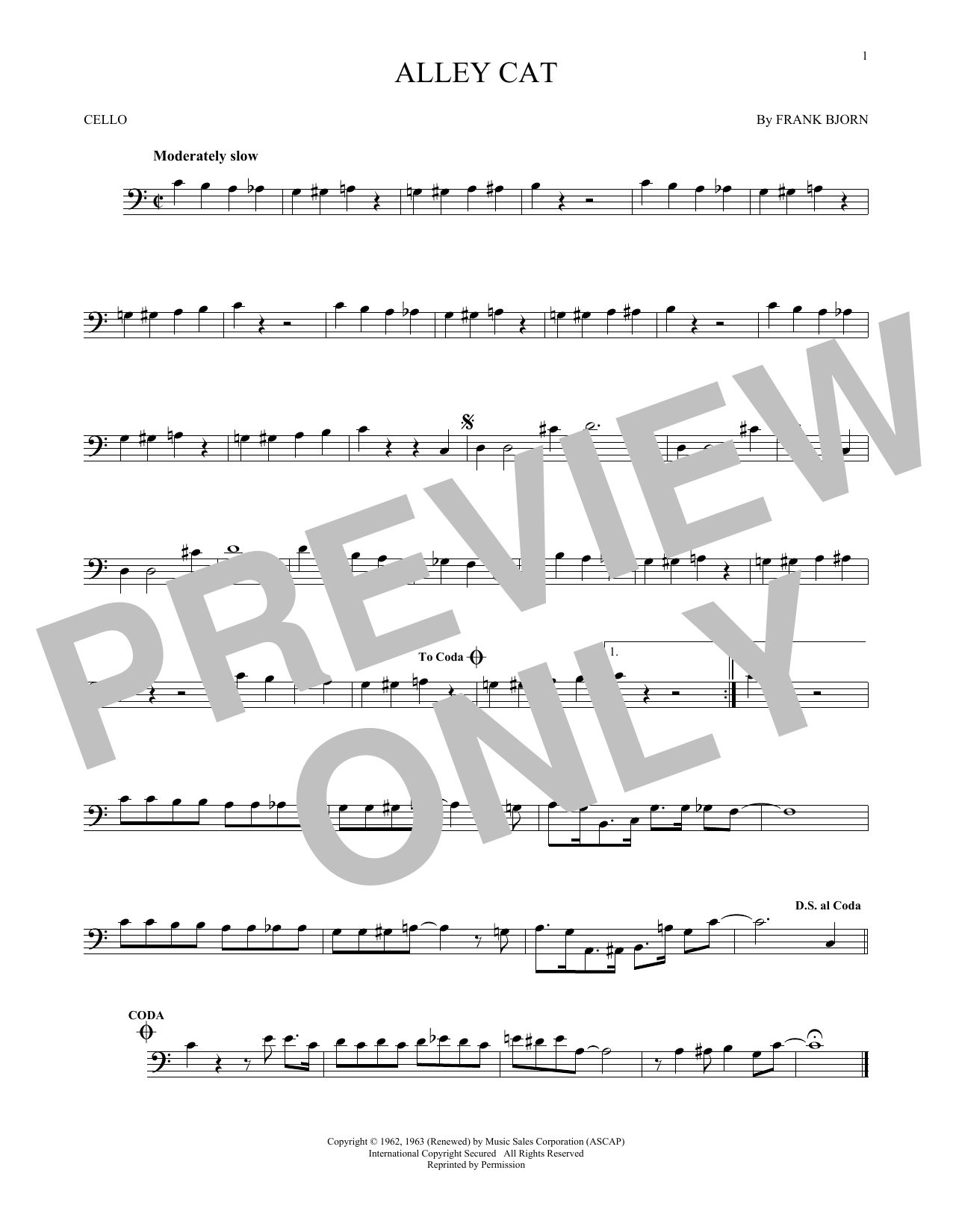 Alley Cat Sheet Music