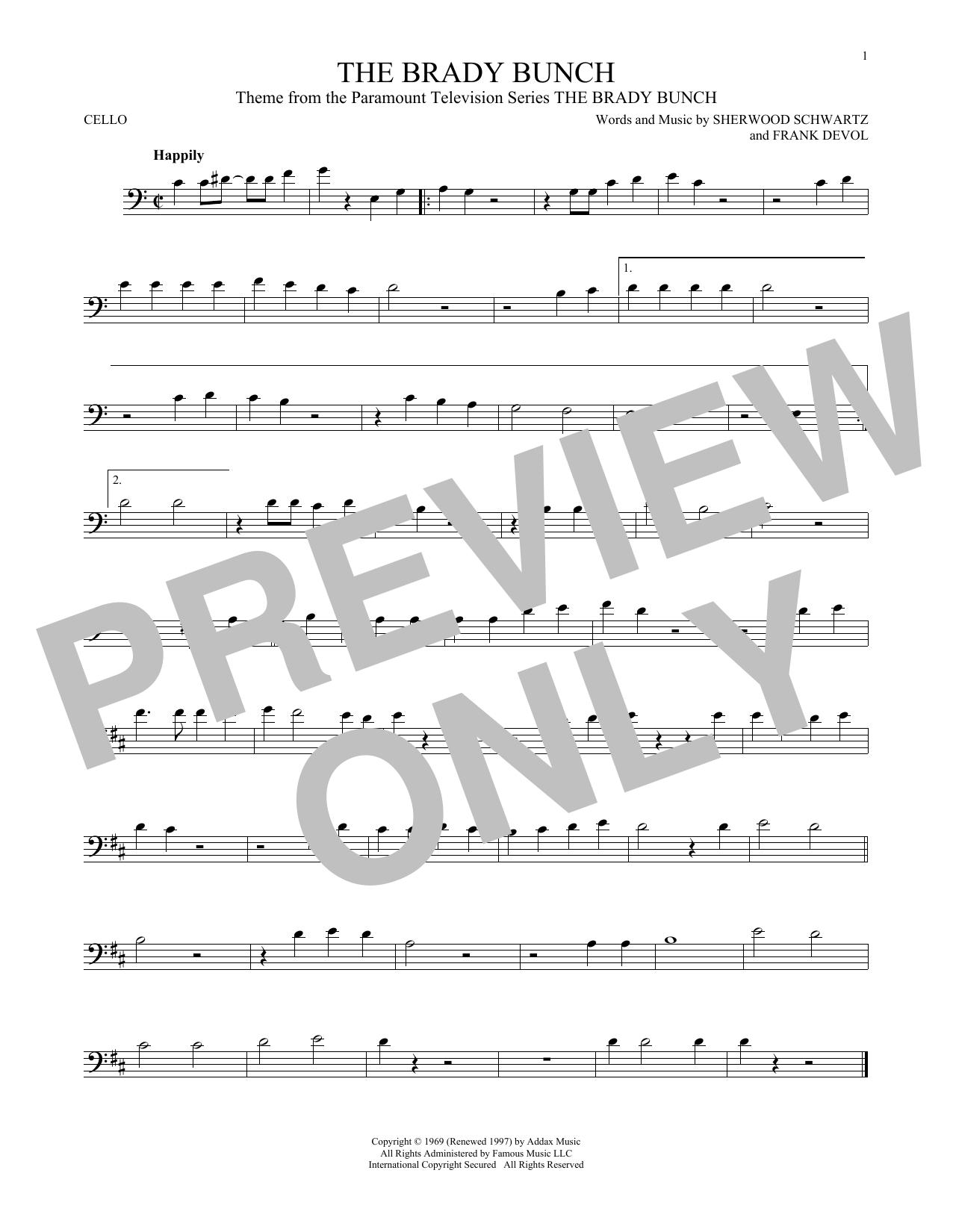 The Brady Bunch Sheet Music