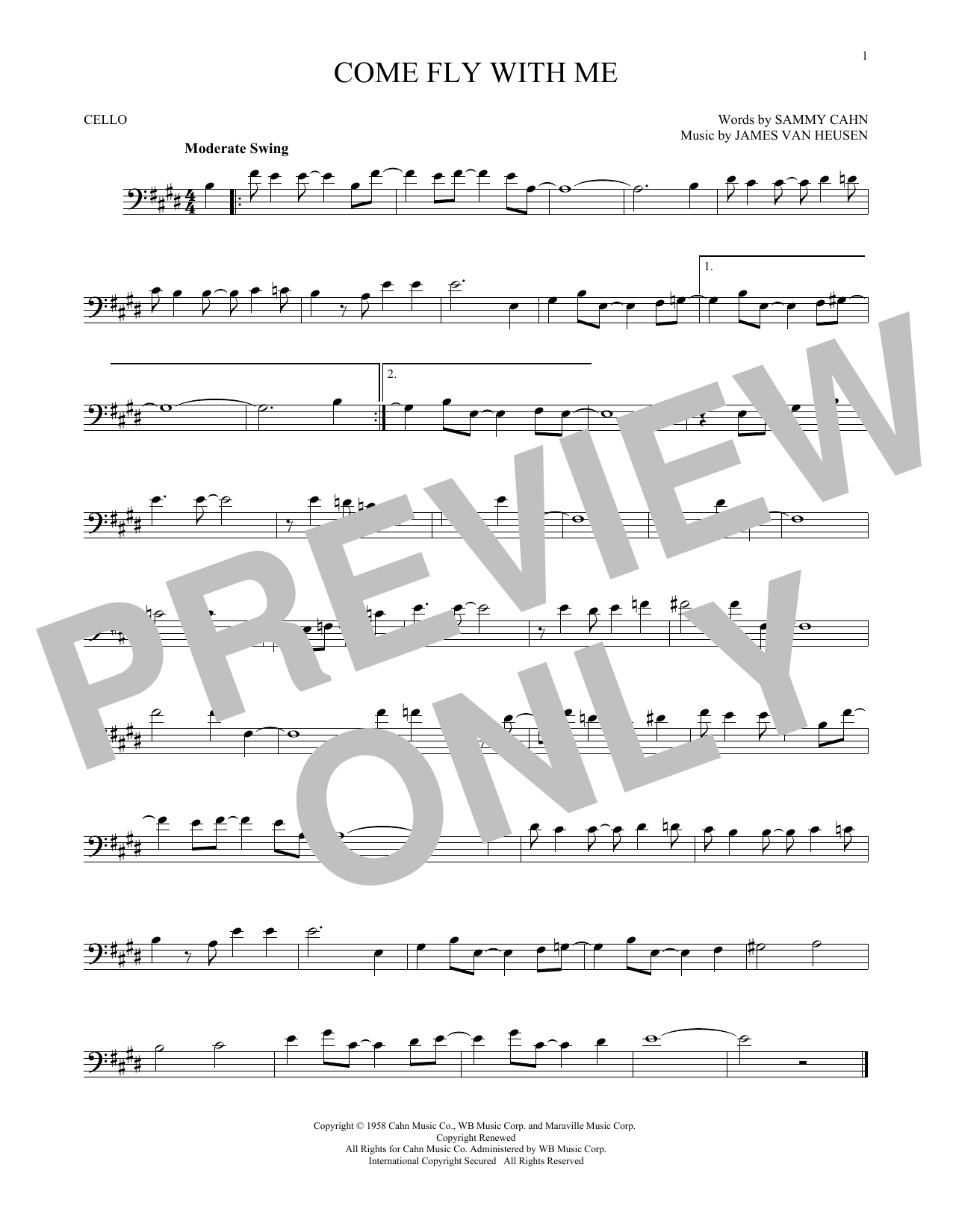 page one of Come Fly With MeASALTTEXT