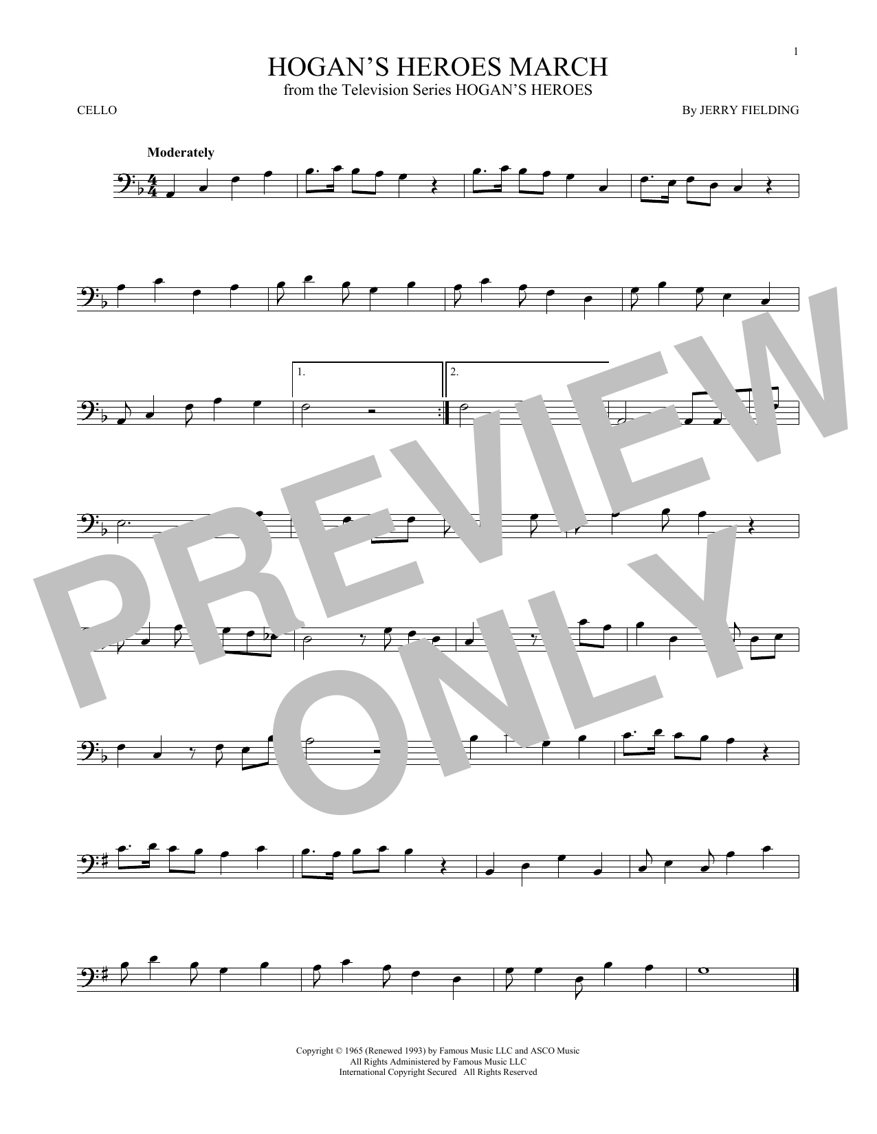 Hogan's Heroes March Sheet Music
