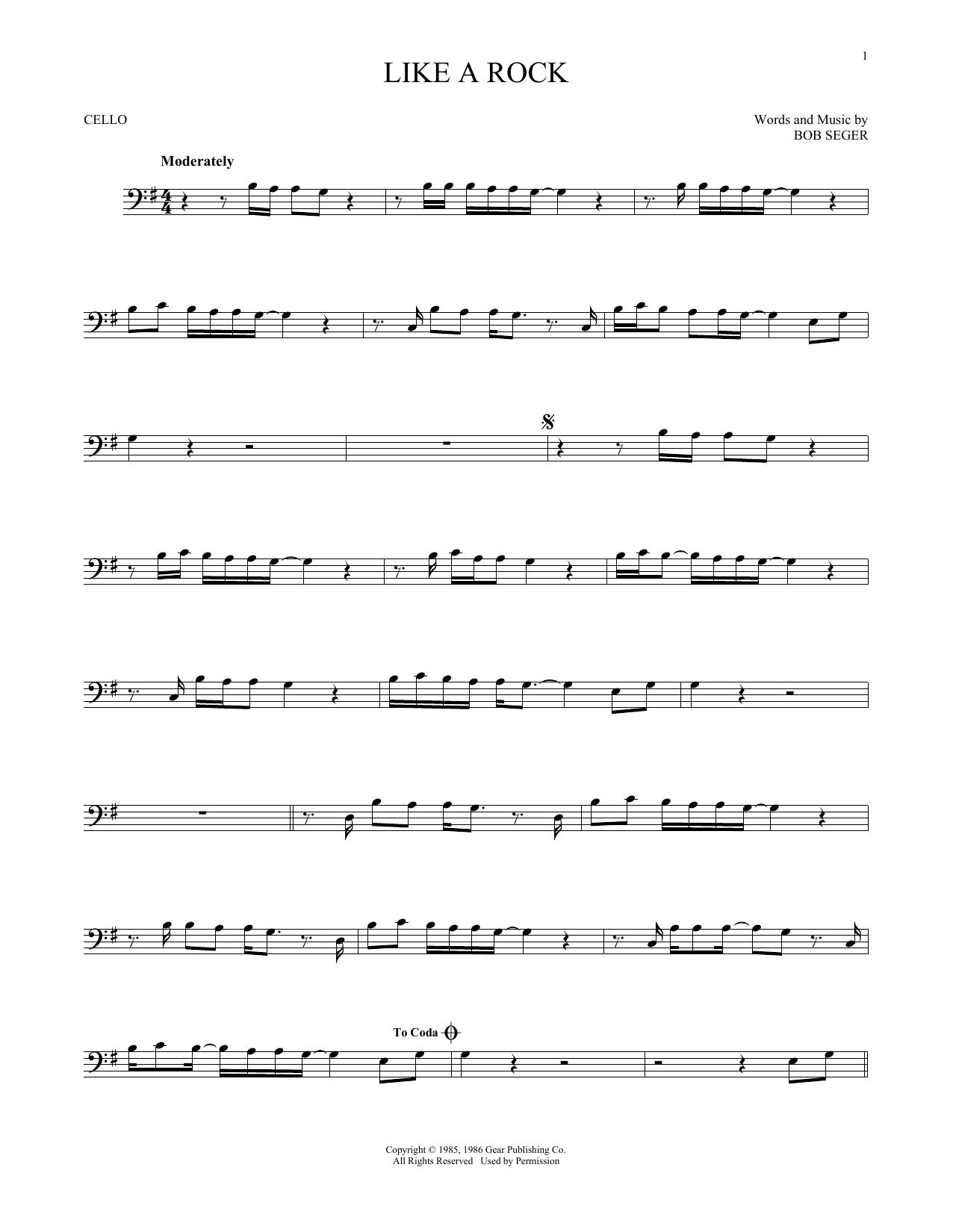 Like A Rock (Cello Solo)