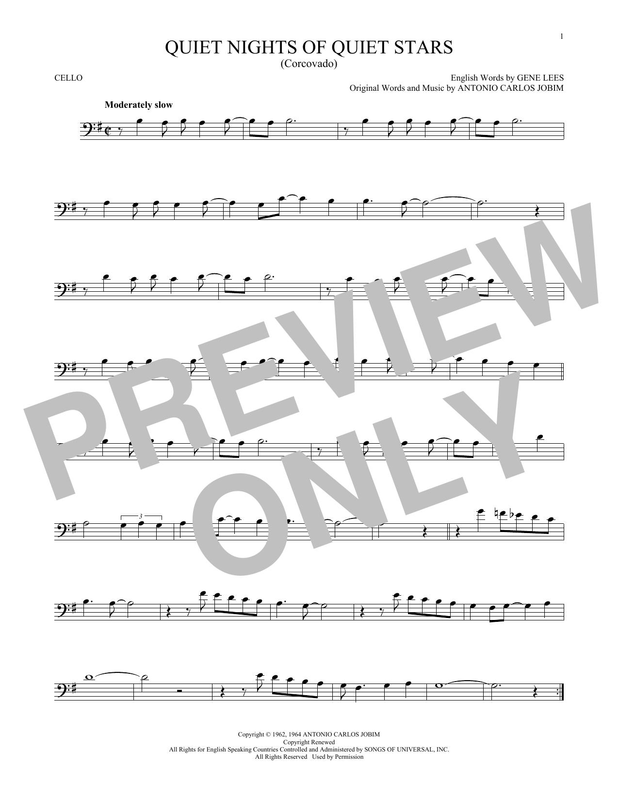 Quiet Nights Of Quiet Stars (Corcovado) (Cello Solo)