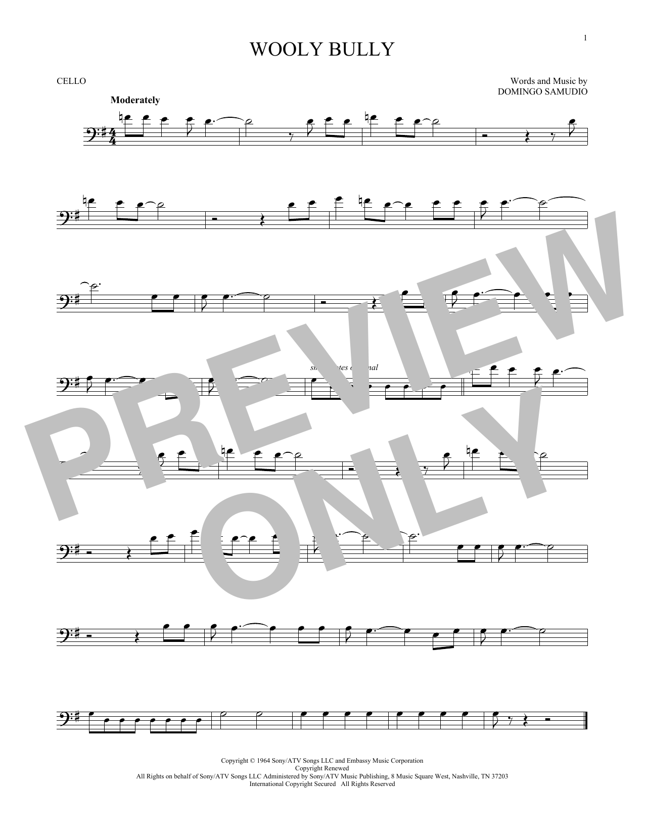 Wooly Bully Sheet Music