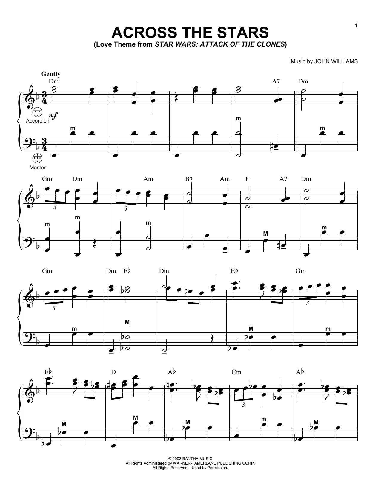 Sheet Music Digital Files To Print - Licensed Accordion