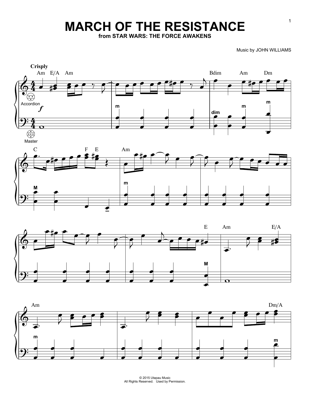 March Of The Resistance Sheet Music
