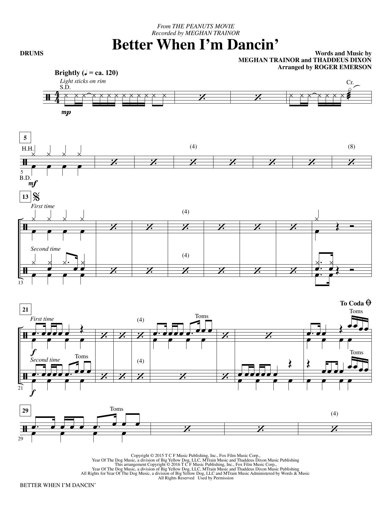 Better When I'm Dancin' - Drums (Choir Instrumental Pak)