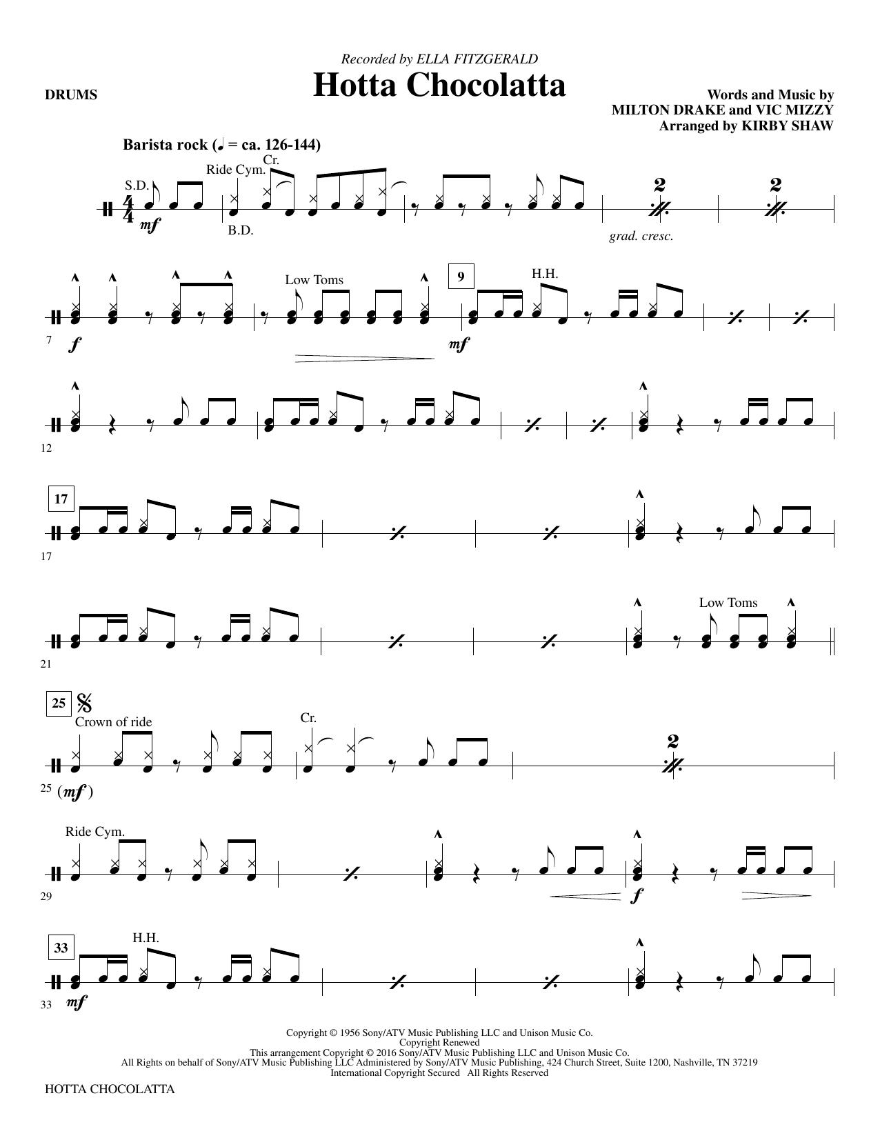 Hotta Chocolatta - Drums (Choir Instrumental Pak)