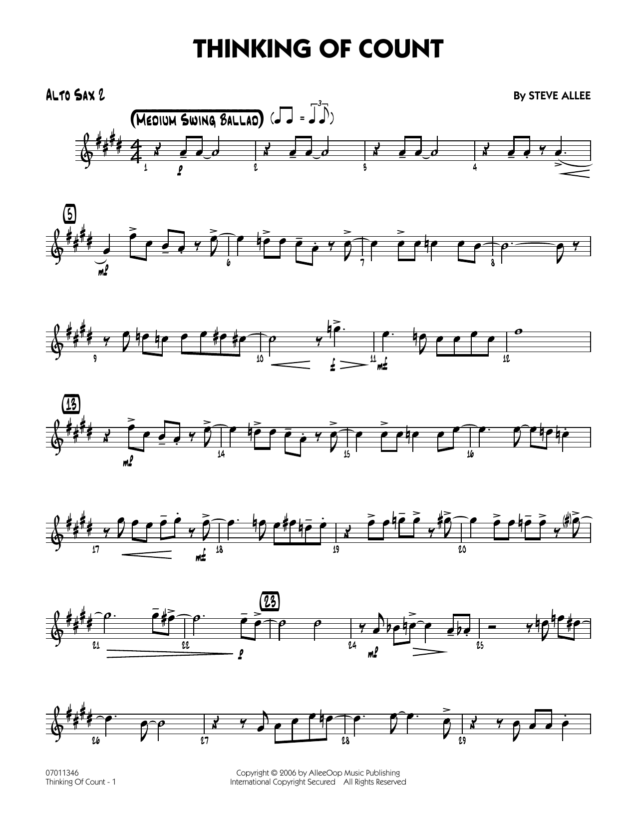 Thinking of Count - Alto Sax 2 (Jazz Ensemble)