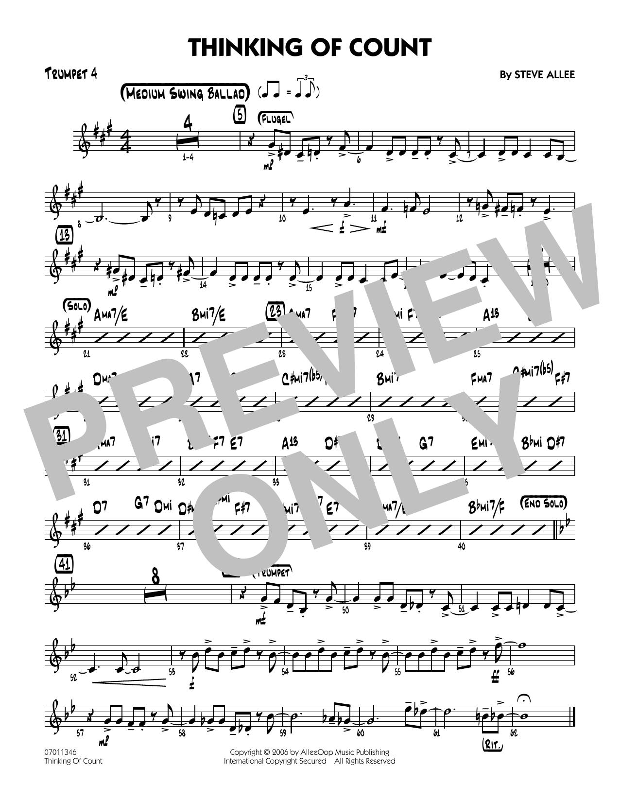 Thinking of Count - Trumpet 4 (Jazz Ensemble)