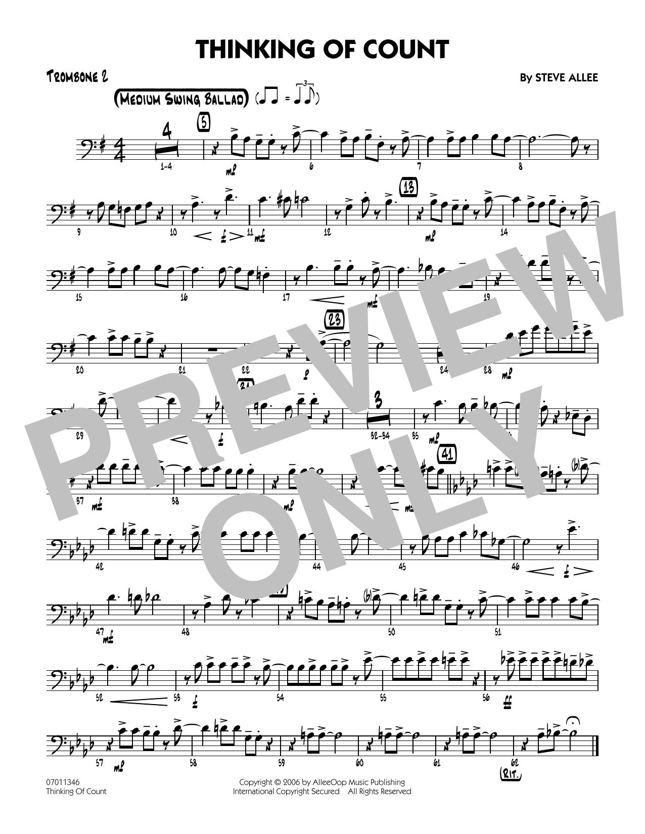 Thinking of Count - Trombone 2 (Jazz Ensemble)