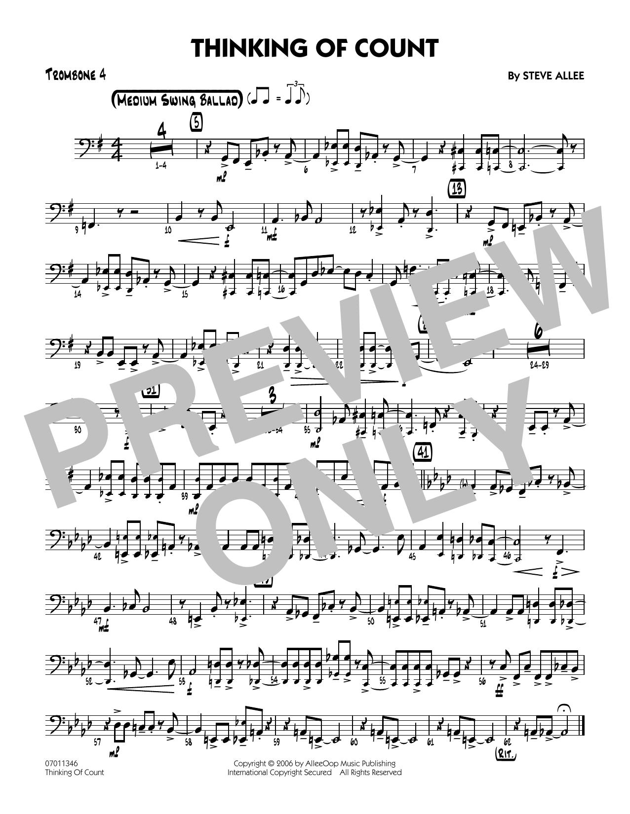 Thinking of Count - Trombone 4 (Jazz Ensemble)