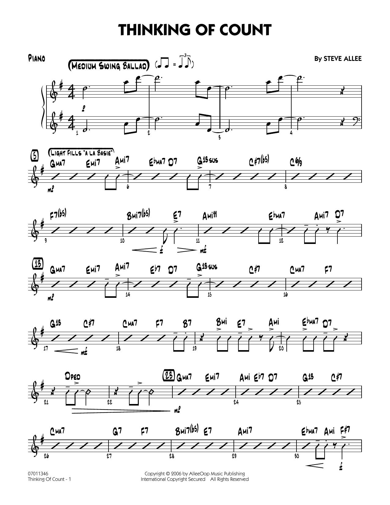 Thinking of Count - Piano (Jazz Ensemble)