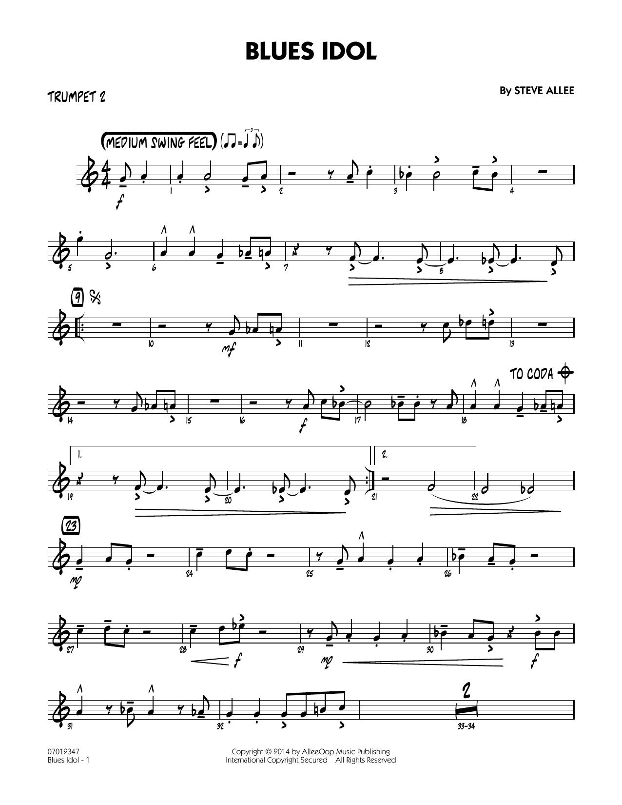 Blues Idol - Trumpet 2 (Jazz Ensemble)