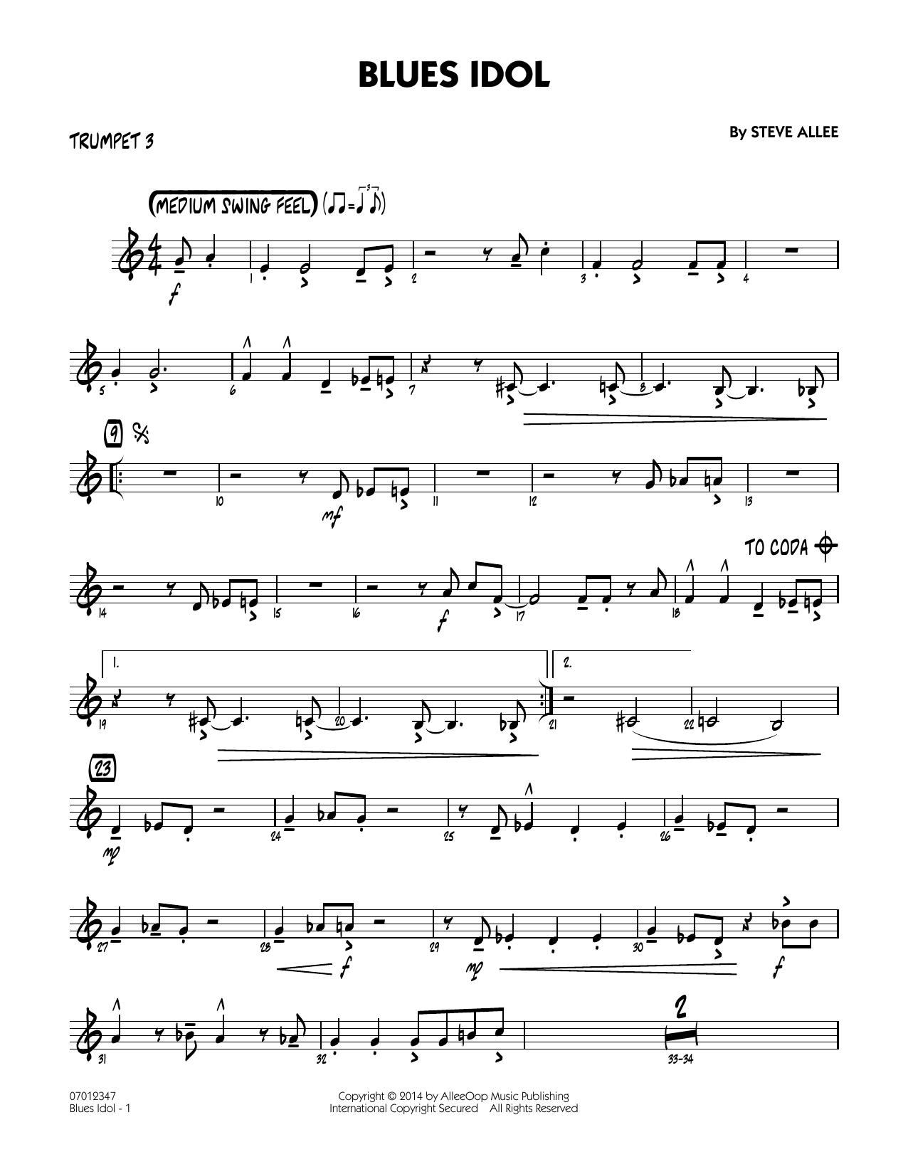 Blues Idol - Trumpet 3 (Jazz Ensemble)