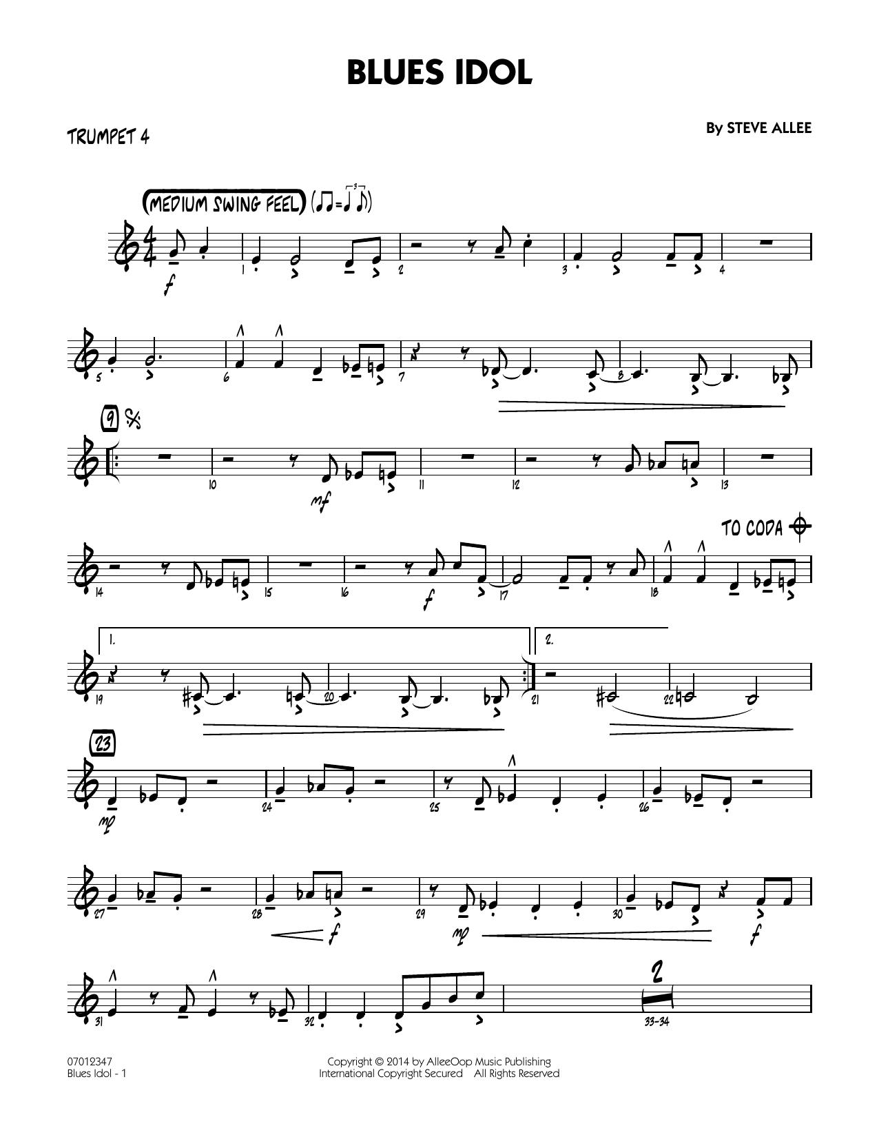 Blues Idol - Trumpet 4 (Jazz Ensemble)