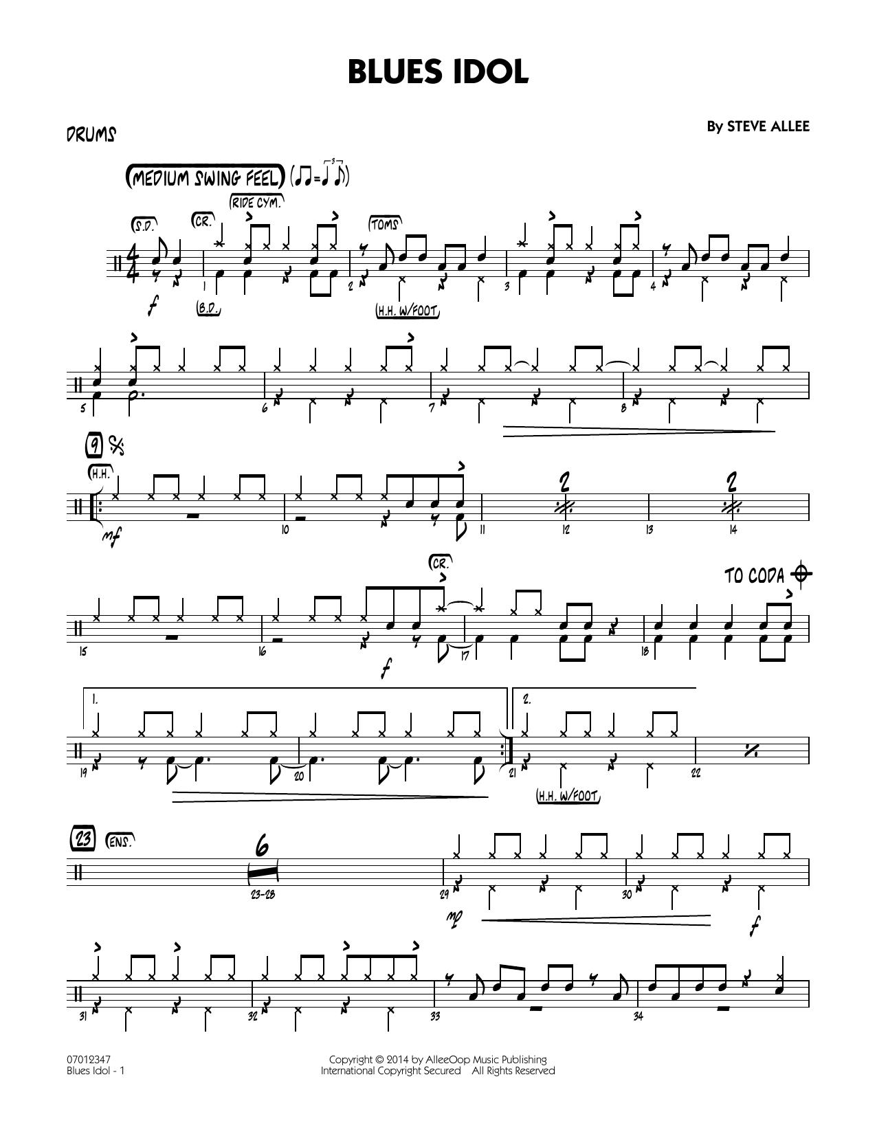 Blues Idol - Drums (Jazz Ensemble)
