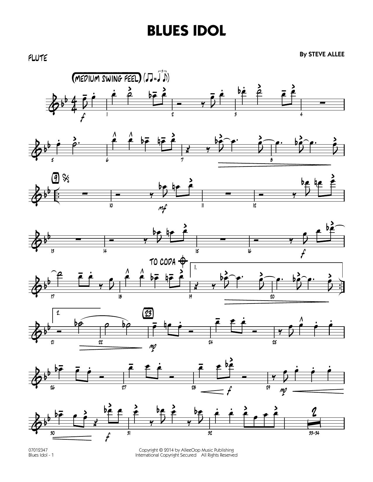 Blues Idol - Flute (Jazz Ensemble)