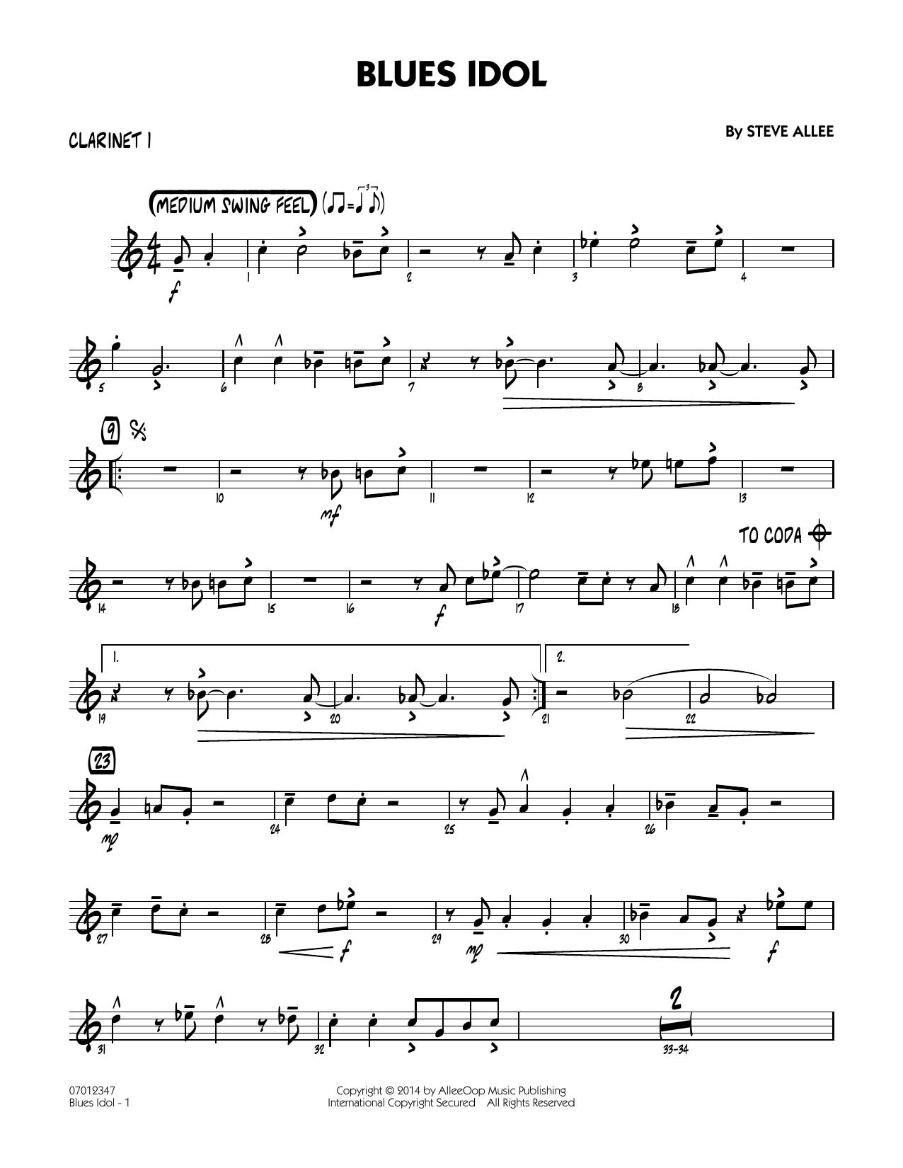 Blues Idol - Bb Clarinet 1 (Jazz Ensemble)