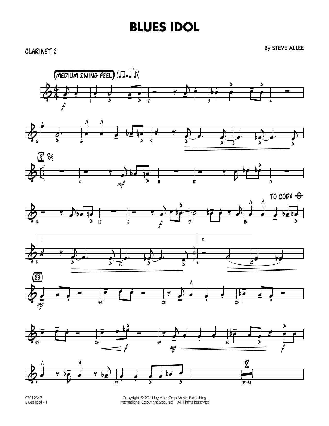 Blues Idol - Bb Clarinet 2 (Jazz Ensemble)