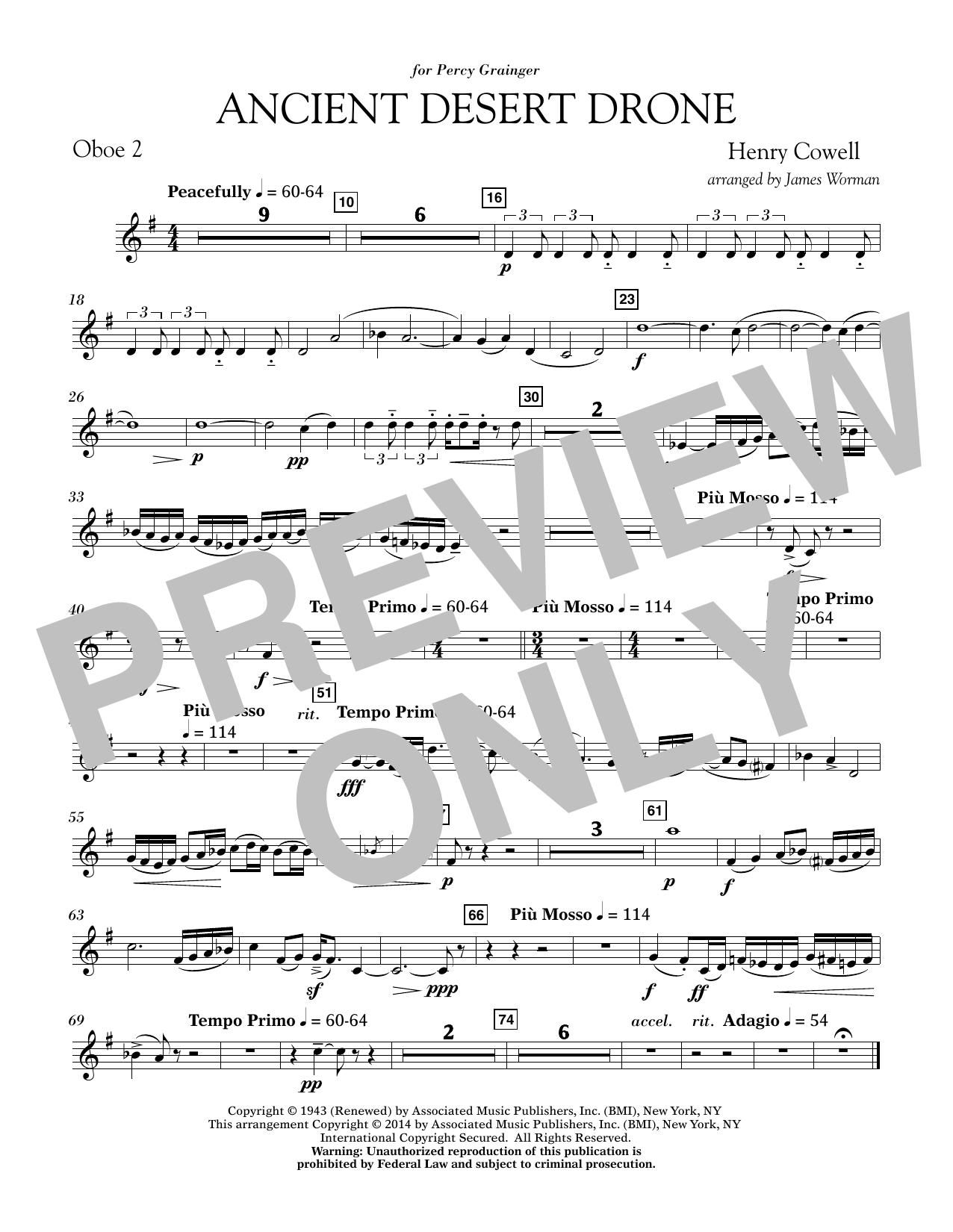 Ancient Desert Drone - Oboe 2 (Concert Band)