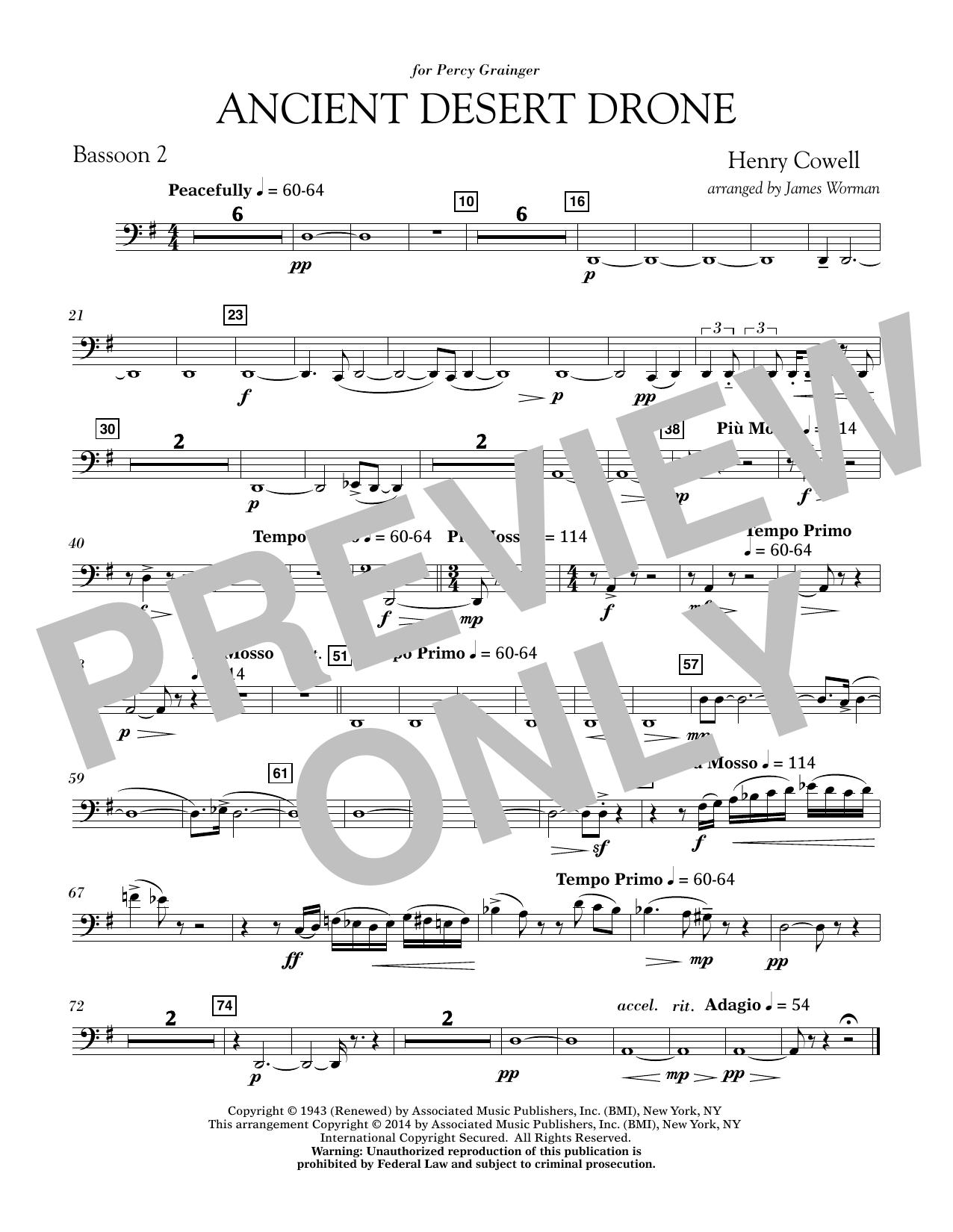 Ancient Desert Drone - Bb Clarinet 2 (Concert Band)