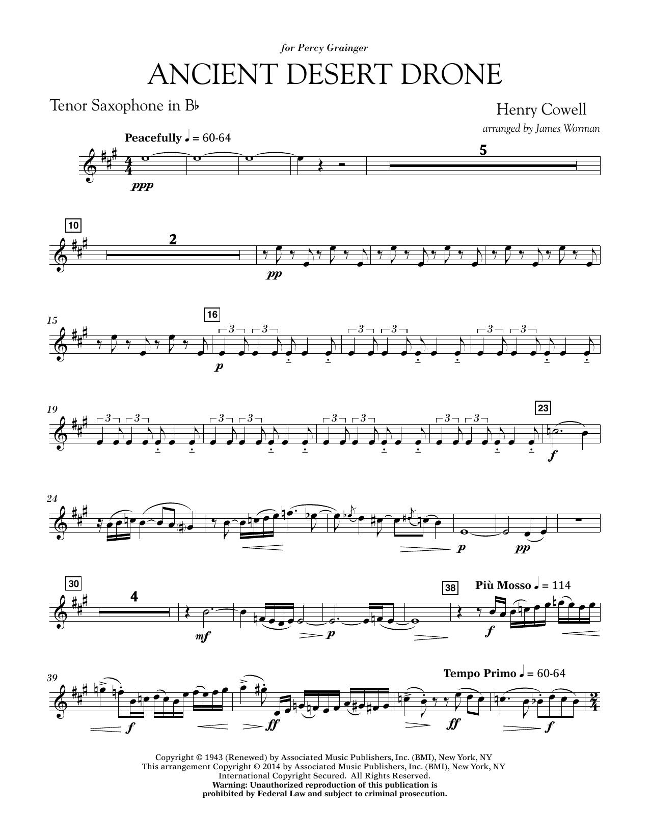 Ancient Desert Drone - Bb Tenor Saxophone (Concert Band)