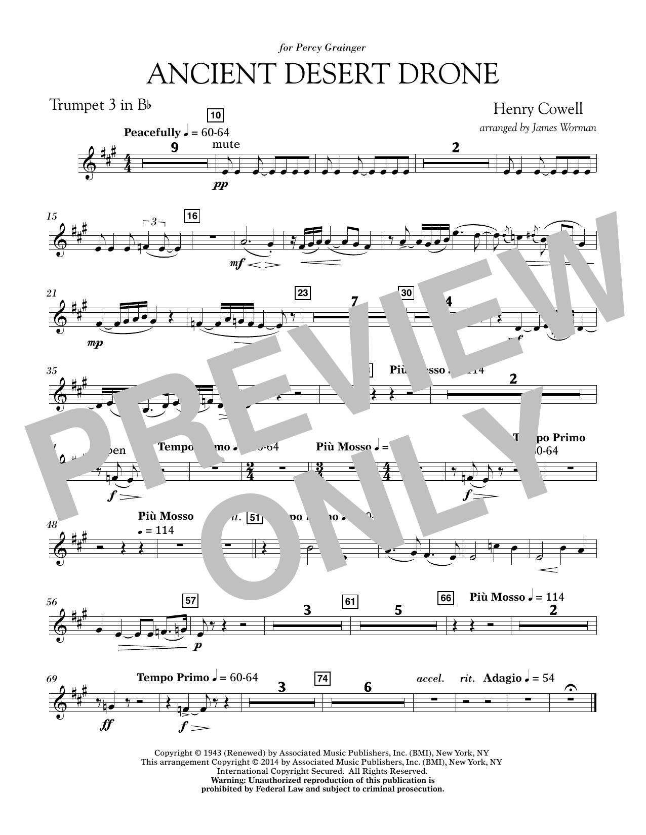 Ancient Desert Drone - Bb Trumpet 3 (Concert Band)