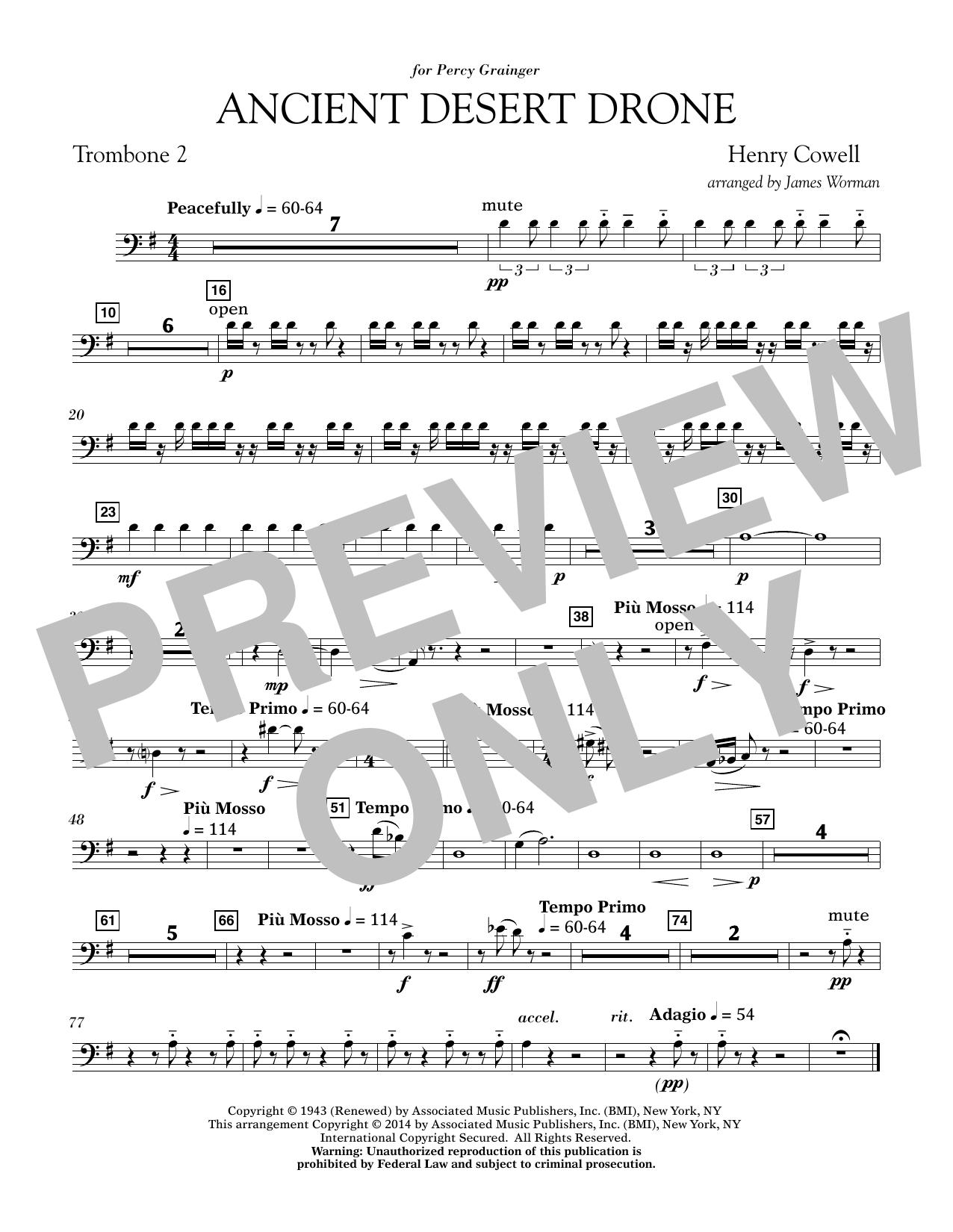 Ancient Desert Drone - Trombone 2 (Concert Band)