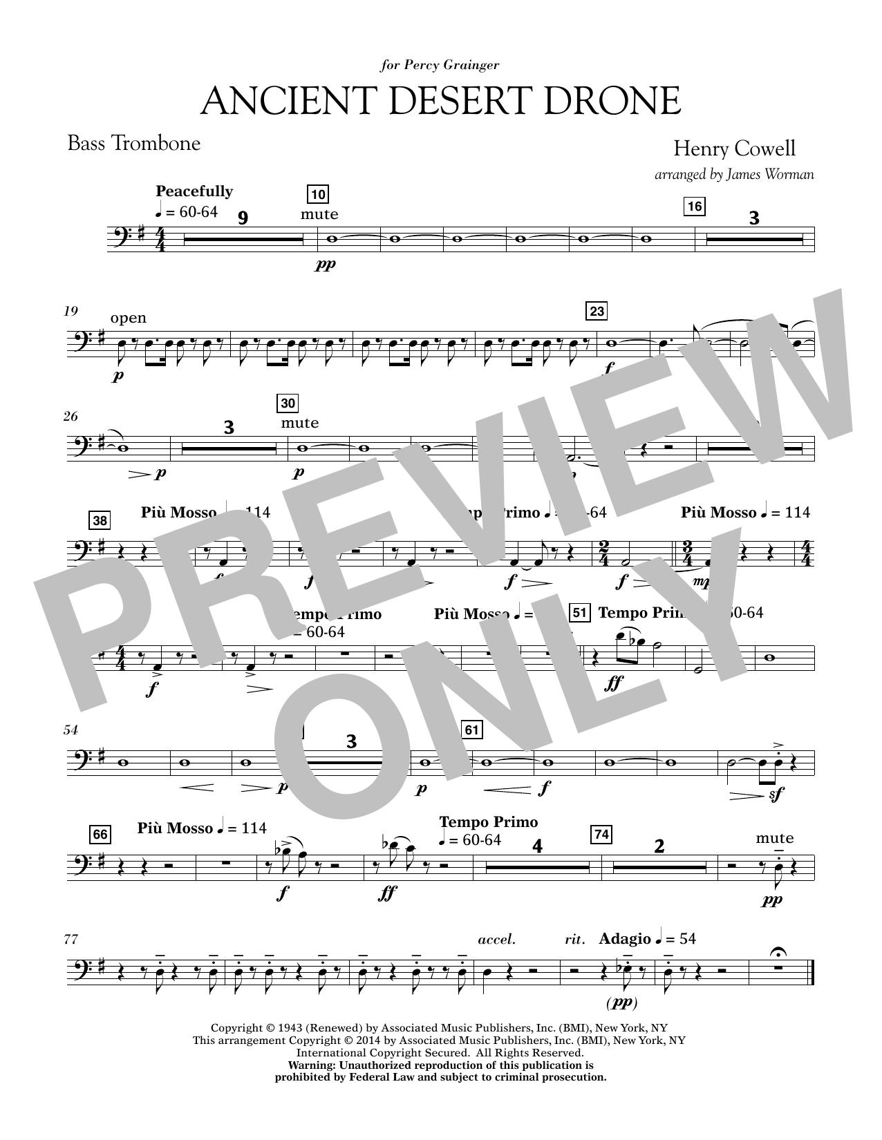 Ancient Desert Drone - Bass Trombone (Concert Band)