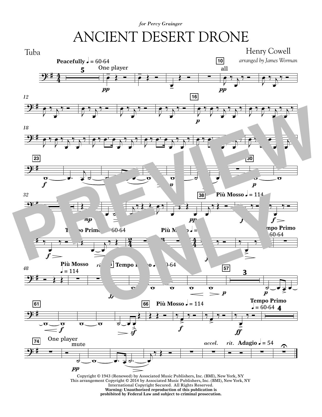 Ancient Desert Drone - Tuba (Concert Band)
