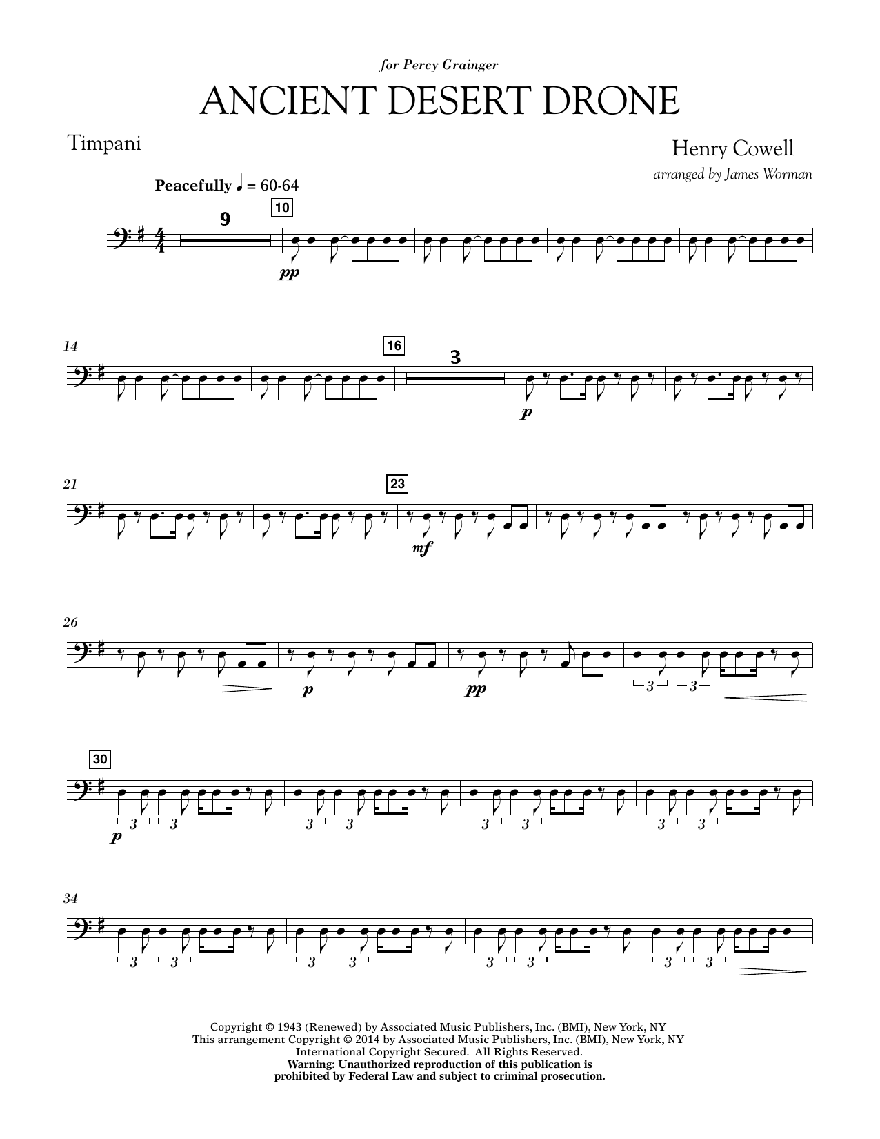Ancient Desert Drone - Timpani (Concert Band)
