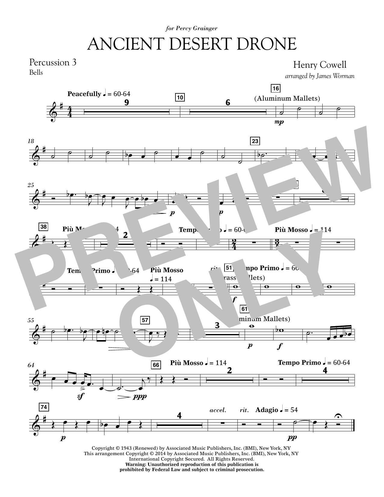 Ancient Desert Drone - Percussion 3 (Concert Band)