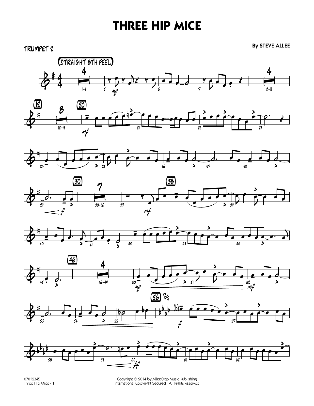 Three Hip Mice - Trumpet 2 (Jazz Ensemble)