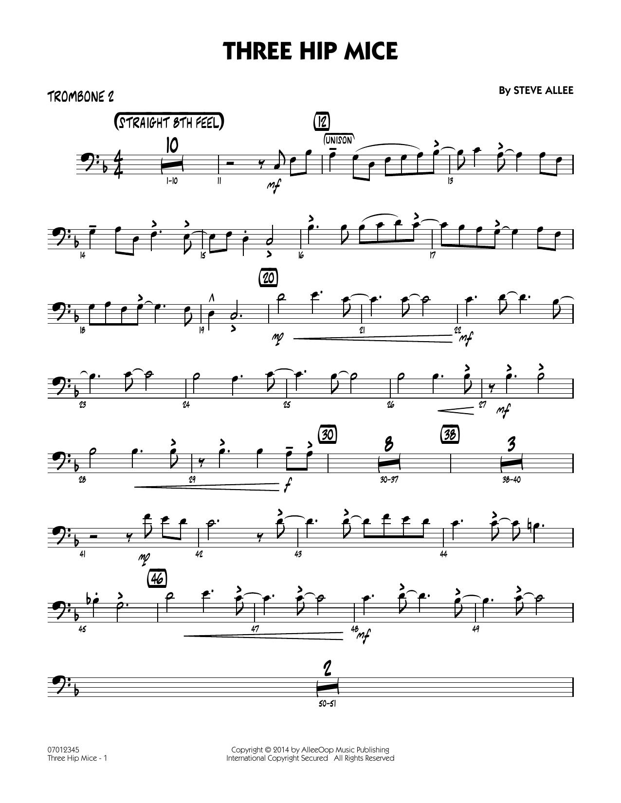 Three Hip Mice - Trombone 2 (Jazz Ensemble)
