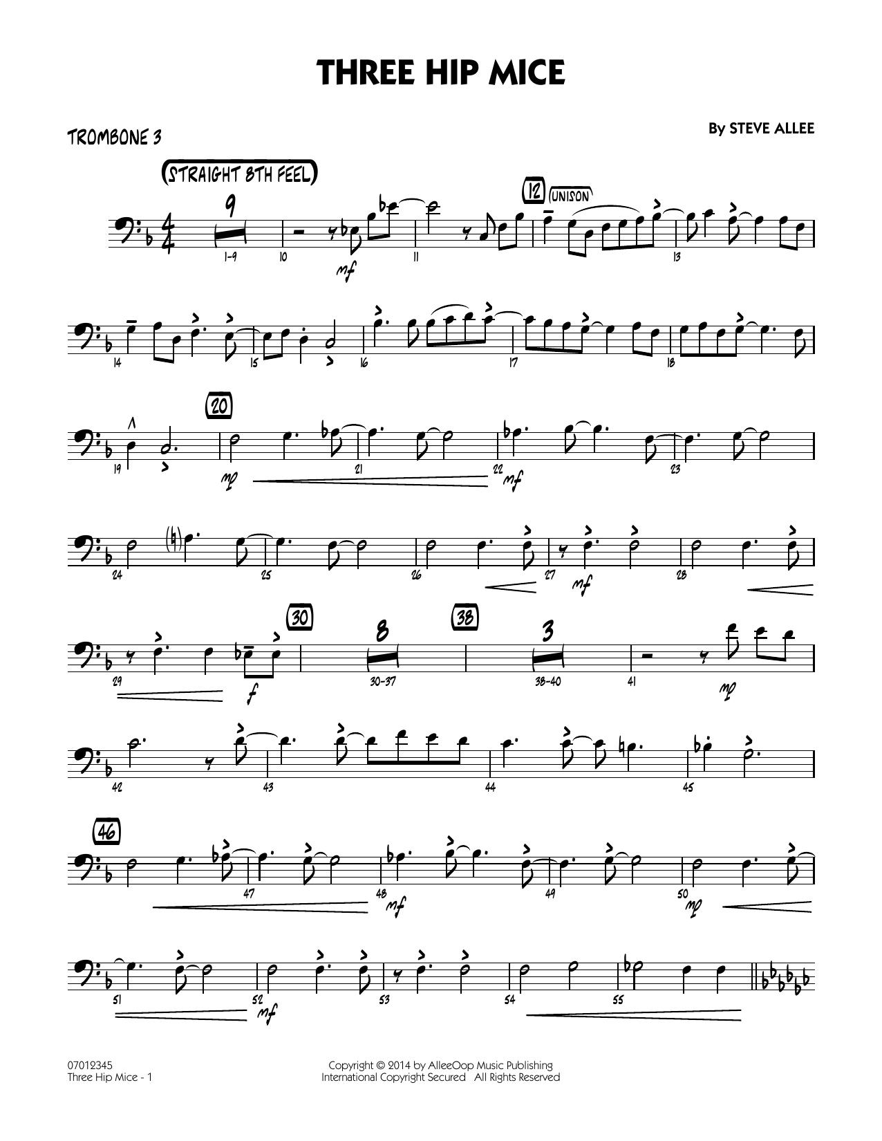 Three Hip Mice - Trombone 3 (Jazz Ensemble)