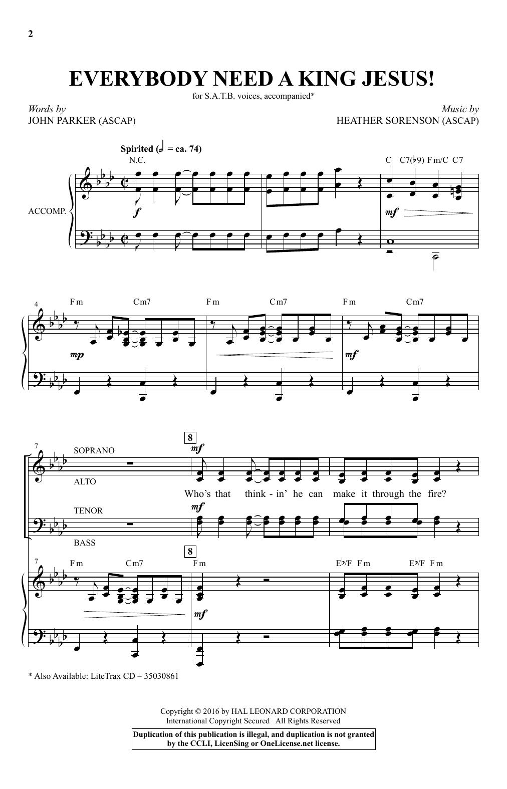 Everybody Need A King Jesus! (SATB Choir)