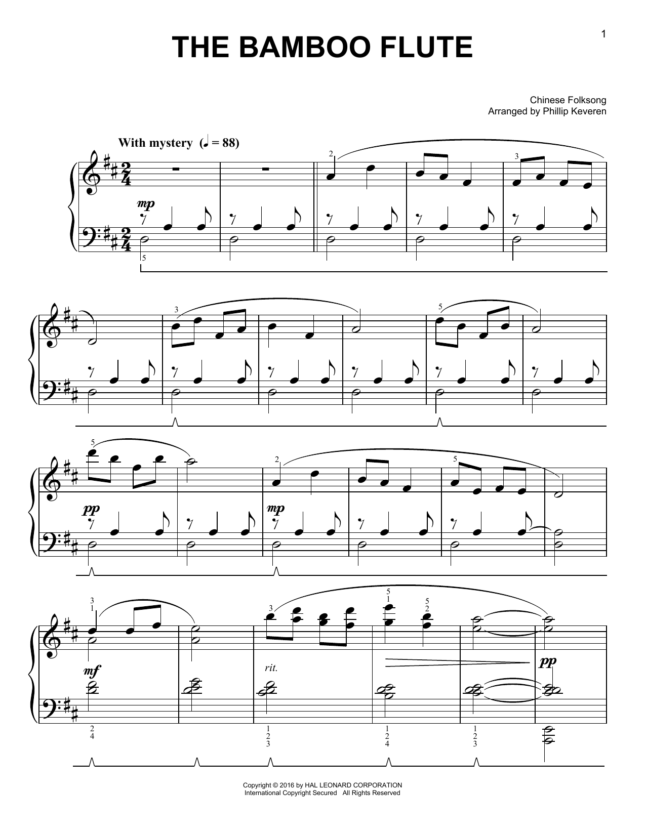 The Bamboo Flute Sheet Music
