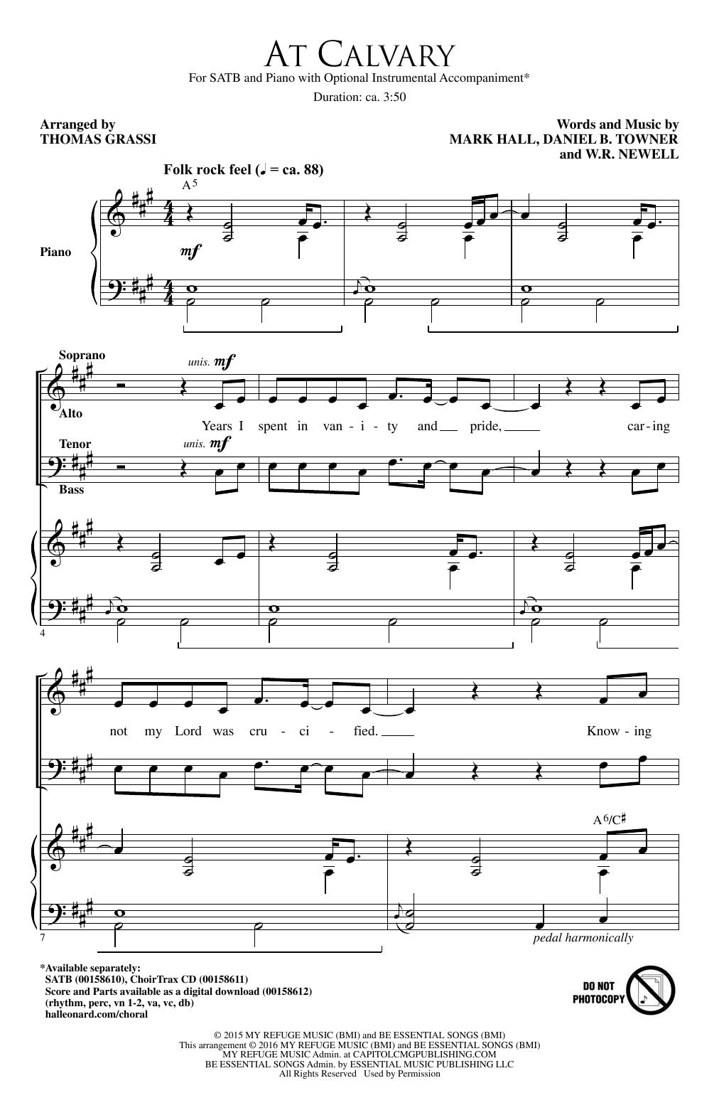 At Calvary (SATB Choir)