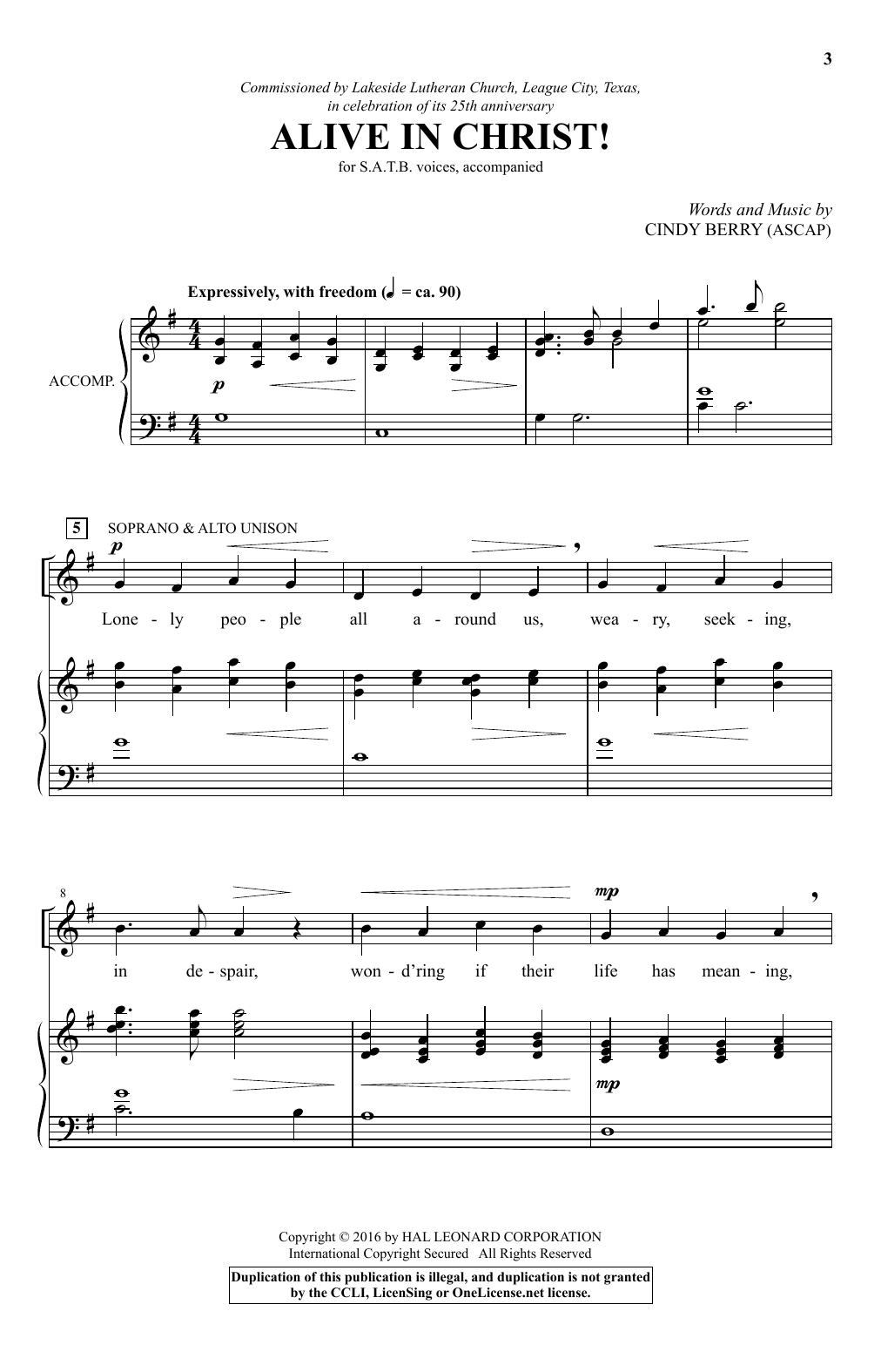Alive In Christ! Sheet Music