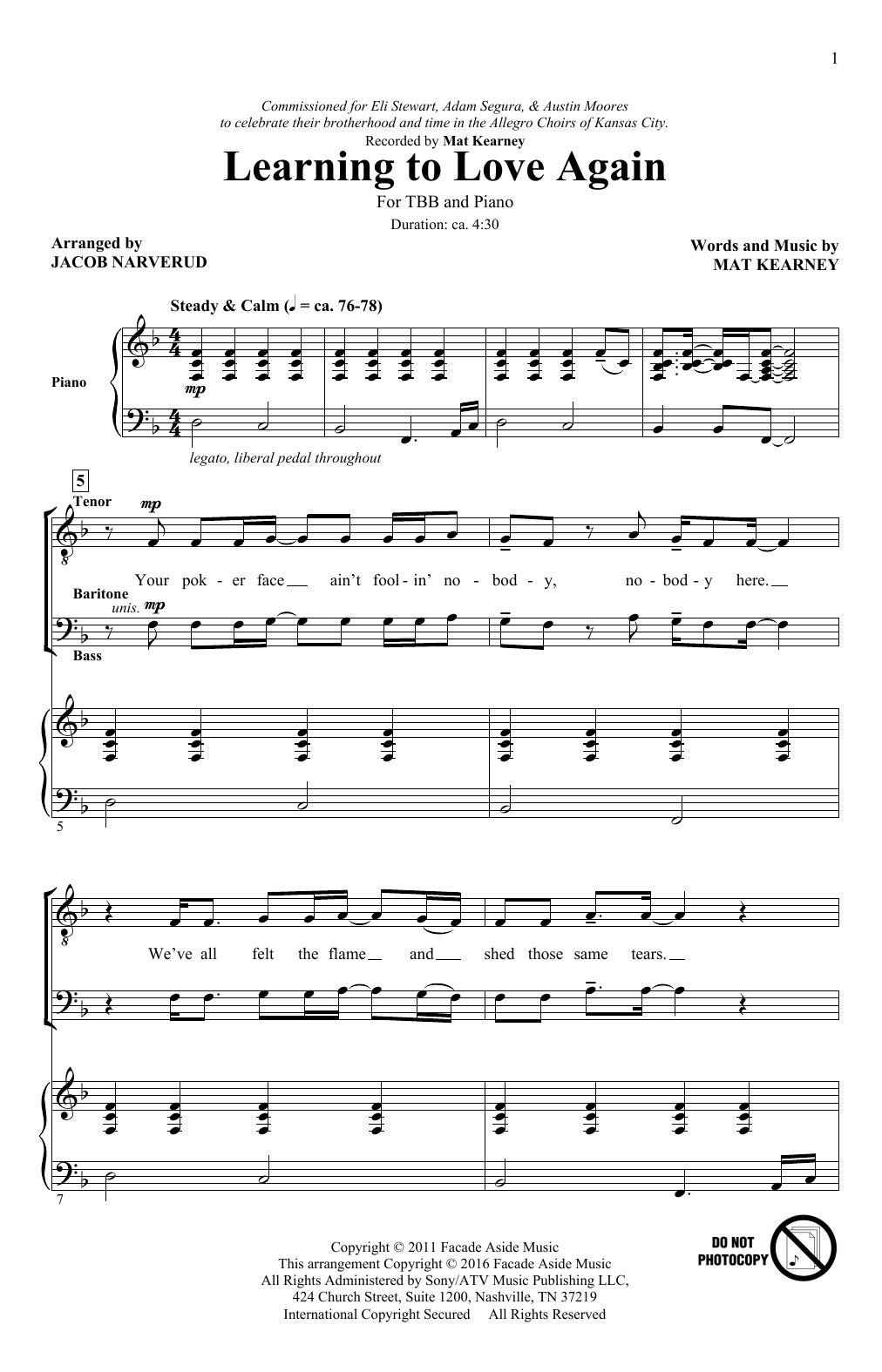 Learning To Love Again Sheet Music